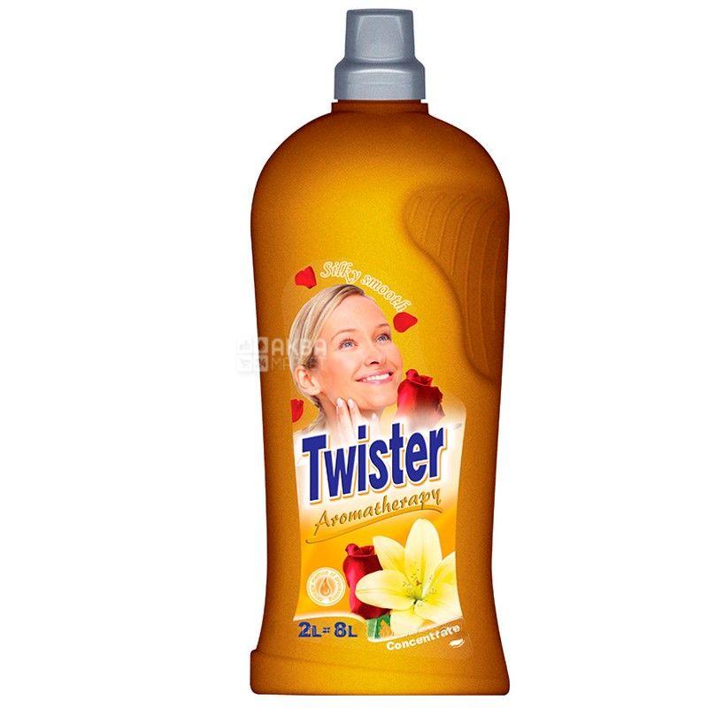 Twister, 2 л, кондиционер-суперконцентрат для белья, Гладкость шелка, ПЭТ