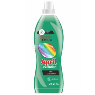 April Evolution, 1 л, гель для прання, Сolor and black, ПЕТ