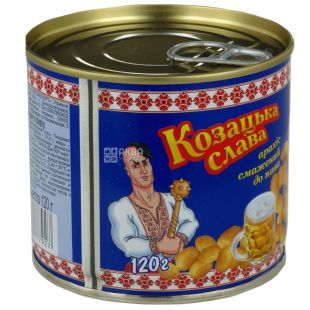 Козацкая слава, 120 г, арахис к пиву, жареный,  ж/б