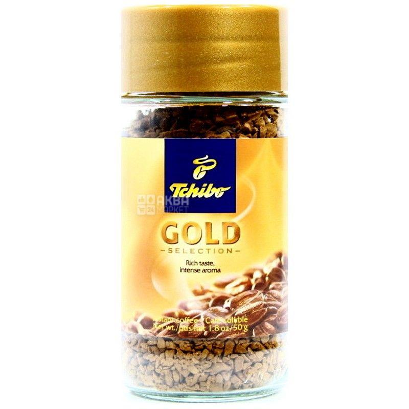 Tchibo Gold, 50 г, Кава Чібо Голд, розчинна