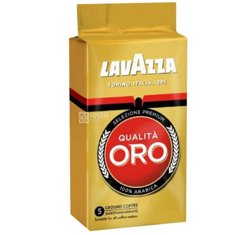 Lavazza, Qualita Oro, 8 шт. по 250 г, Кофе Лавацца, Куалита Оро, средней обжарки, молотый