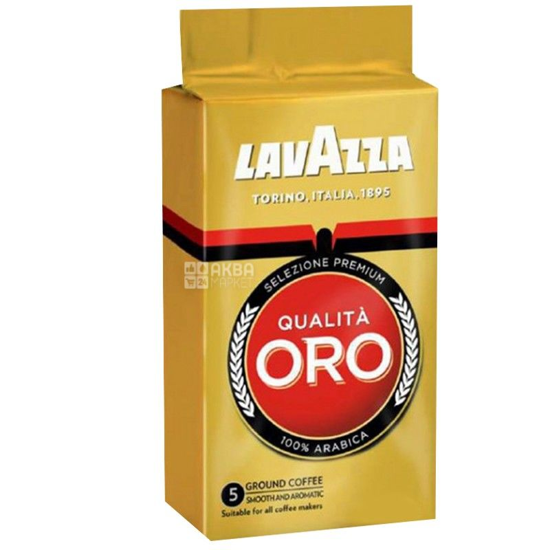 Lavazza Qualita Oro Original, Кофе молотый, 250 г