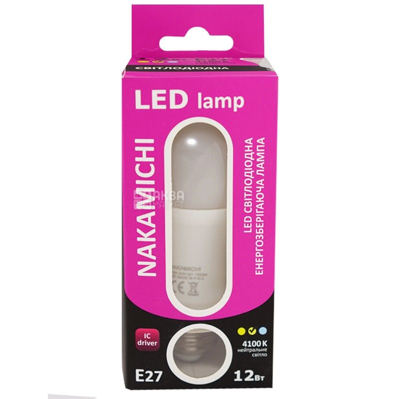 Nakamichi, 12W, лампа светодиодная, Матовая