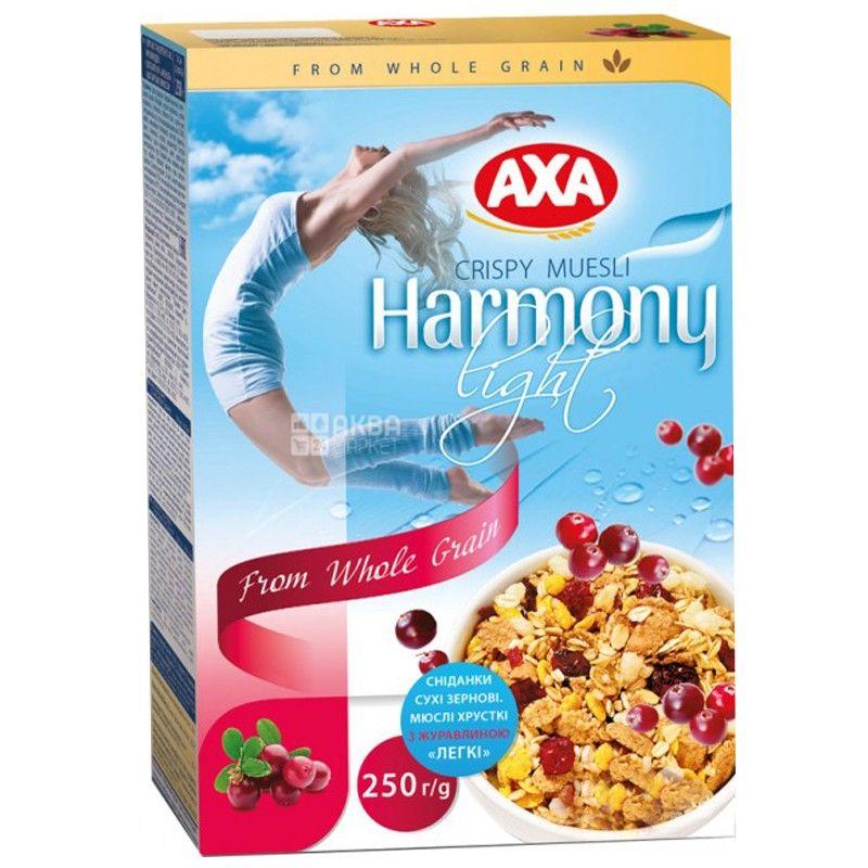 AXA, 250 г, мюсли легкие, Гармония, С клюквой