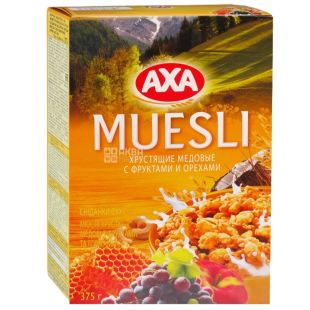AXA, 375 g, honey muesli, With fruit and nuts