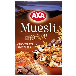 AXA, 375 g, honey muesli, With chocolate and nuts