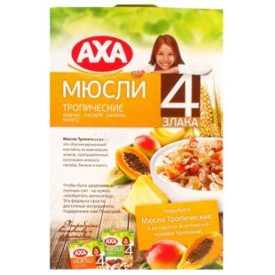 AXA, 300 g, muesli tropical, 4 cereals