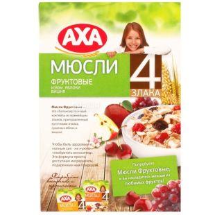 AXA, 300 г, мюсли фруктовые, 4 злака