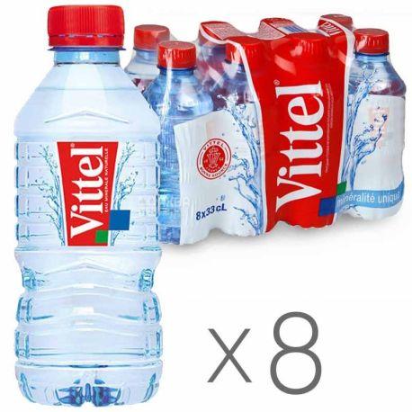 Vittel, 0,33 л, Упаковка 8 шт., Віттель, Вода мінеральна негазована, ПЕТ