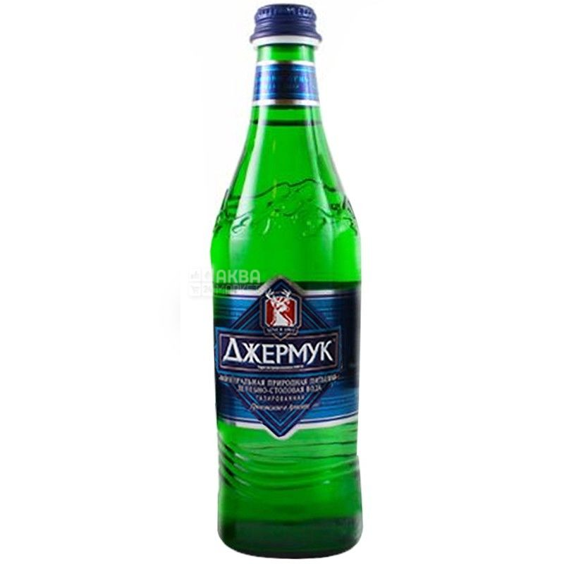 Джермук, 0,5 л, Стекло, упаковка 12 шт., Вода минеральная газированная, стекло