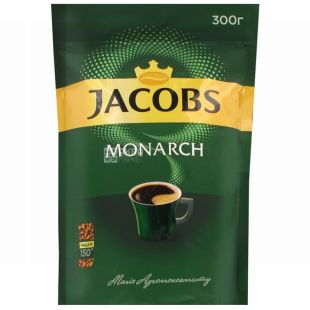 Jacobs Monarch, 300 г, растворимый кофе, Econom