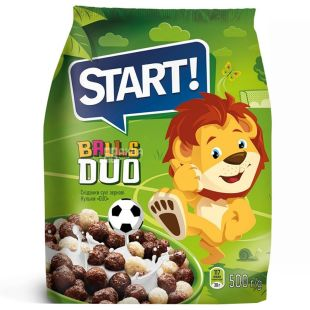 Start, 500 г, сухий сніданок, Balls Duo