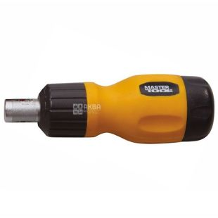 MASTER TOOL, small screwdriver, with ratchet, 6 nozzles, 40-0517