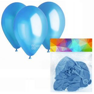Gemar Balloons, 10 шт., повітряні кулі, Пастель, Блакитні, м/у