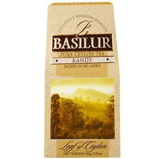 BASILUR, 100 г, чай черный, Leaf of Ceylon, Kandy