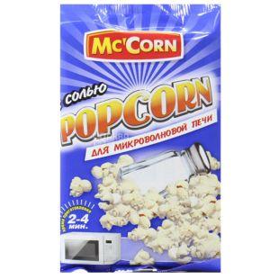 Mc'Corn, 90 г, Попкорн, З сіллю, Для мікрохвильової печі