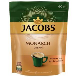 Jacobs Monarch Crema, 60 г, Кава Якобс Монарх Крема, розчинний