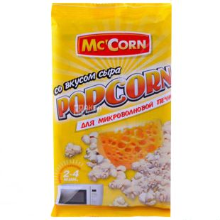 Mc'Corn, 90 g, Popcorn, Cheese Flavored, Microwave