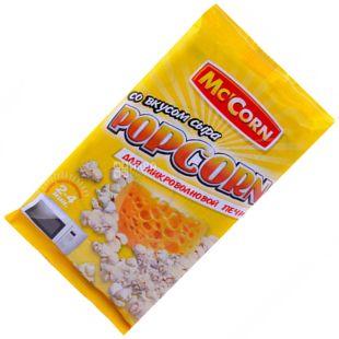 Mc'Corn, 90 г, Попкорн, Зі смаком сиру, Для мікрохвильової печі