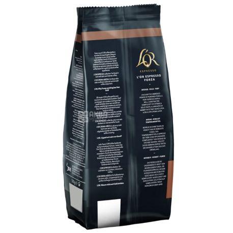 L'OR Espresso Forza, 500 г, Кофе Лор Эспрессо Форза, темной обжарки, в зернах