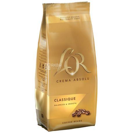 L'OR Crema Absolu Classique, 500 г, Кава Лор Крема Абсолю Классік, середнього обсмаження, в зернах