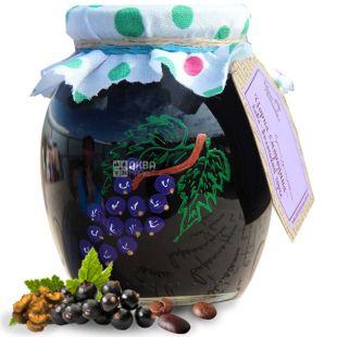 Velika Rodina, 440 g, jam, Black currant-Coffee-Walnut, glass