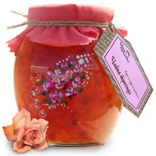 Велика Родина, 420 г, варення, Чайна троянда, скло