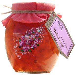 Велика Родина, 420 г, варенье Чайная роза, стекло