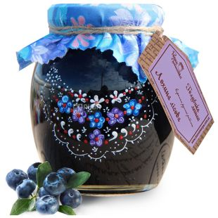 Great Motherland, 440 g, jam, Forest Blueberry, glass