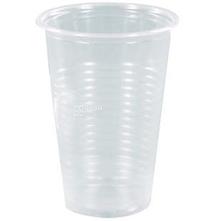 Стакан пластиковий, 100 шт., 180 мл, Прозорий