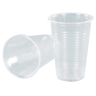 Стакан пластиковый Прозрачный эконом 180 мл, 100 шт.