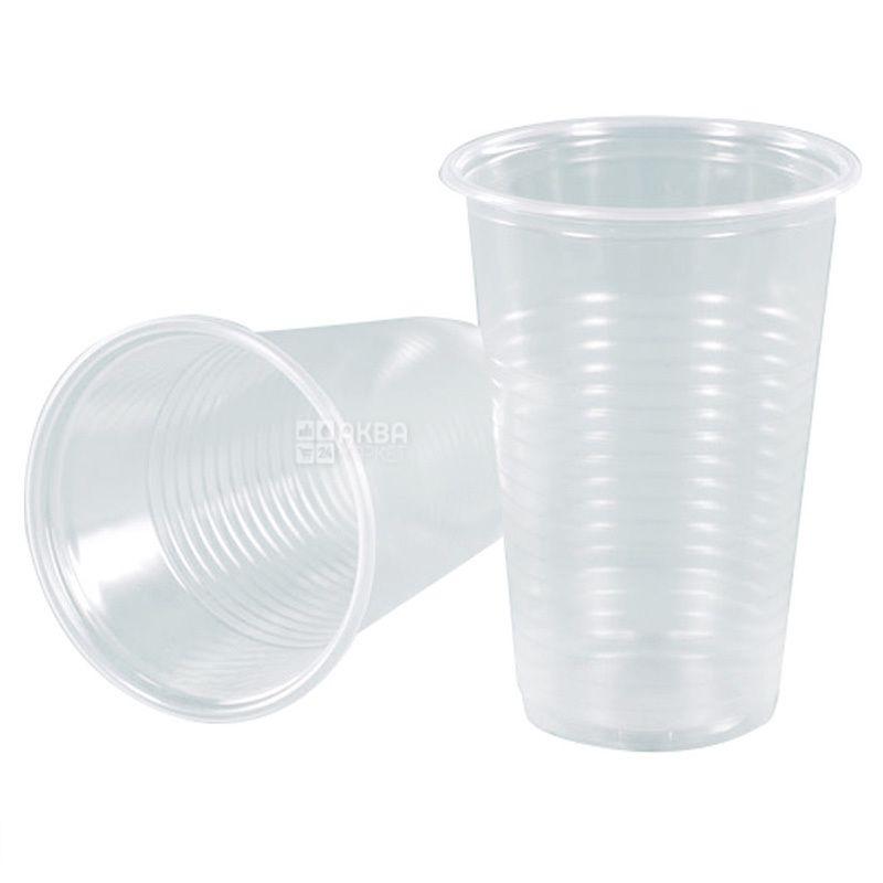 Стакан пластиковий Прозорий економ 180 мл, 100 шт.