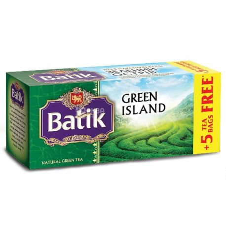 Batik, Green Island, 25 пак., Чай Батик, зеленый