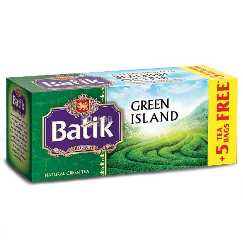 Batik, Green Island, 25 пак., Чай Батік, зелений