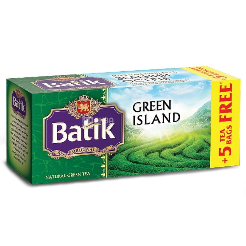 Batik, 25 шт., чай зеленый, Green Island