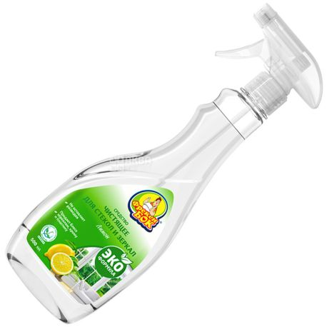 Фрекен Бок, Средство для чистки стекол и зеркал, Лимон, 500 мл