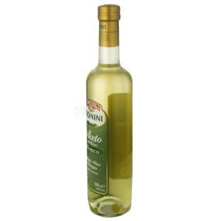 Monini, 0.5 L, Vinegar 7.1%, Wine, White, Glass