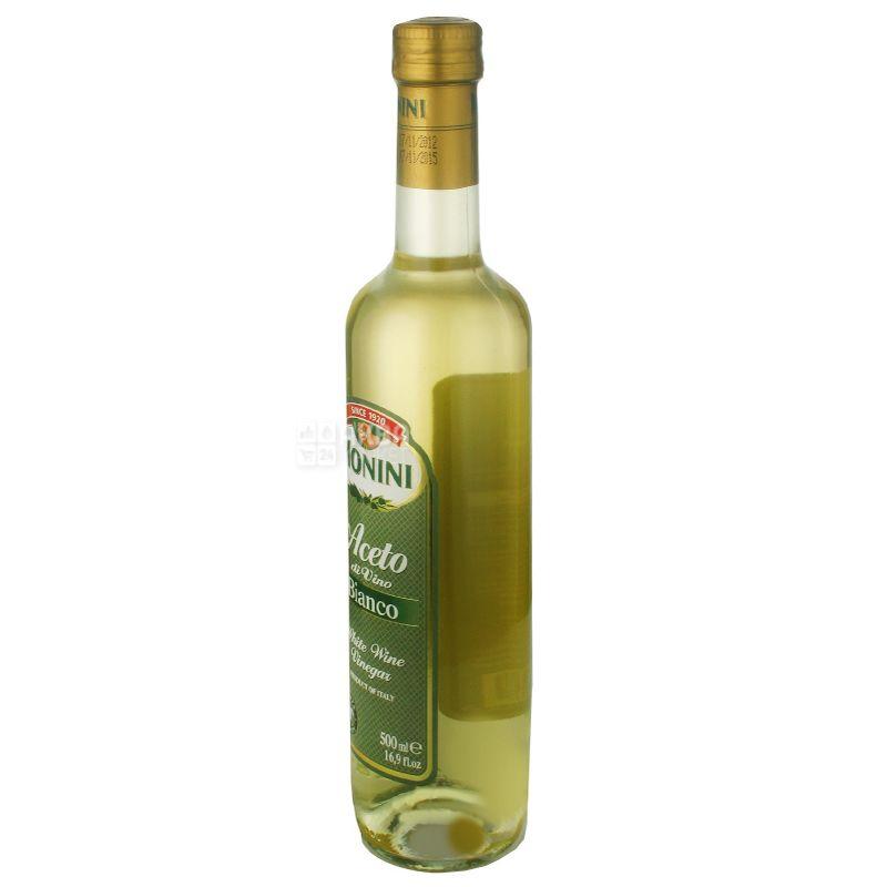 Monini, 0,5 л, уксус 7,1 %, Винный, Белый, Стекло