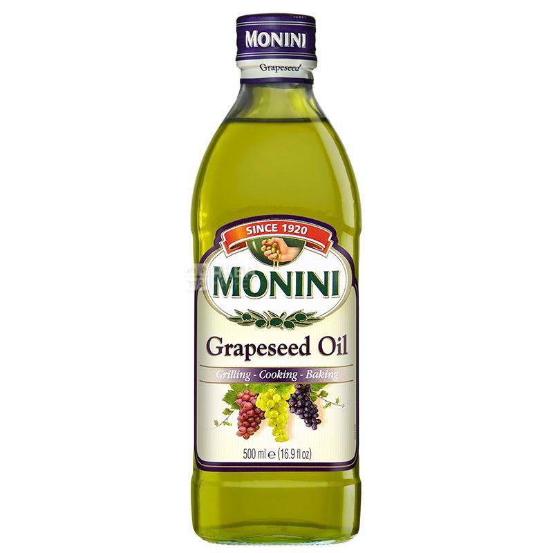 Monini, 0,5 л, масло из виноградных косточек, стекло