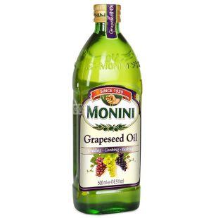 Monini, 0,5 л, олія з виноградних кісточок, скло