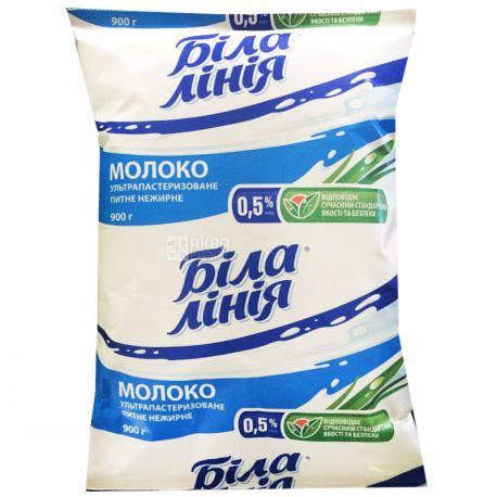 Белая Линия, 900 г, 0,5 %, Молоко, Ультрапастеризованное