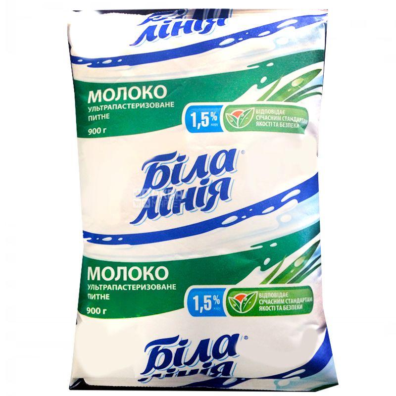 Белая Линия, 900 г, 1,5%, Молоко, Ультрапастиризованное