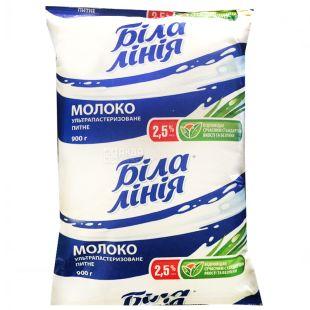 Белая Линия, 900 г, 2,5 %, молоко, Ультрапастиризованное