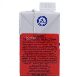 White Line, 200 g, 15%, cream, Ultrapasteurized