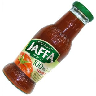 Jaffa, Tomato, 0,25 л, Джаффа, Сок Томатный с солью, стекло