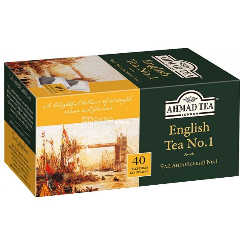 Ahmad English Tea №1, 40 пак, Чай черный Ахмад Инглиш Ти