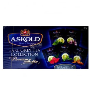 Askold, Earl Grey Collection, 25 пак., Чай Аскольд Ерл Грей, Асорті