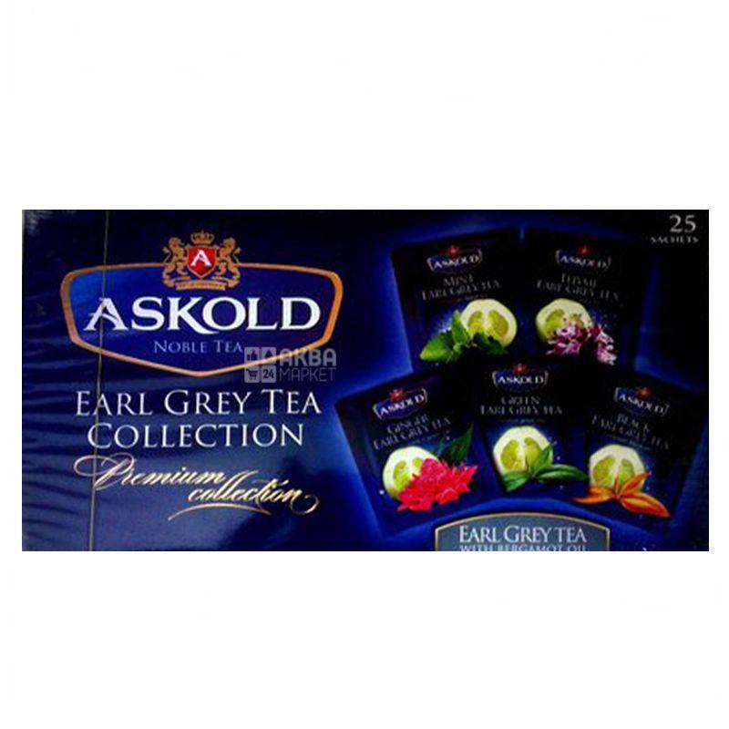 Askold, Earl Grey Collection, 25 пак., Чай Аскольд Эрл Грей, Ассорти