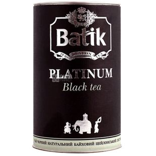 Batik Platinum, 100 г, Чай Батік, Платинум, чорний, середньолистовий, ж/б