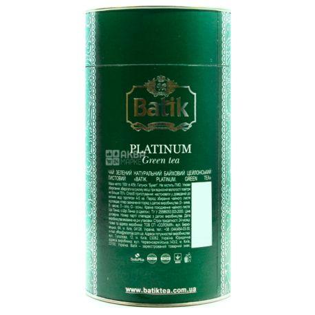 Batik Platinum, 100 г, Чай Батік, Платинум, зелений, середньолистовий, ж/б